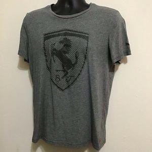 Scuderia Ferrari Sport Medium Puma Gray T Shirt
